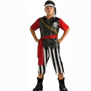 🆕 PIRATE KING Child Costume Boys 4-6 Captain Hook